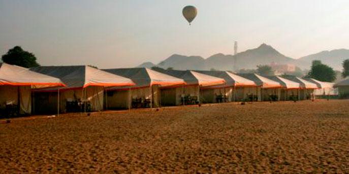 Tent Accommodation at the Pushkar Camel Fair