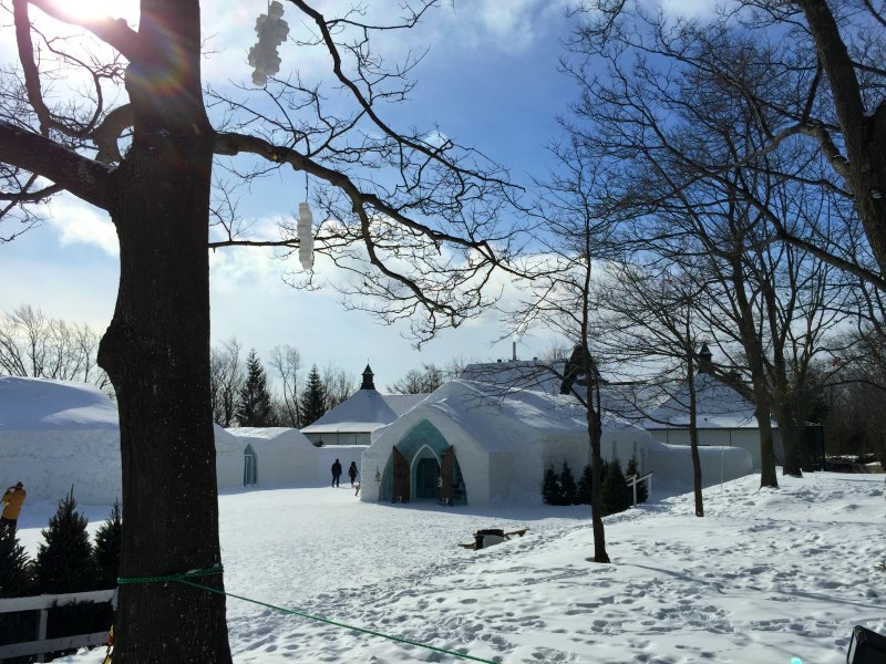 Canada With Kids Staying At The Quebec Ice Hotel