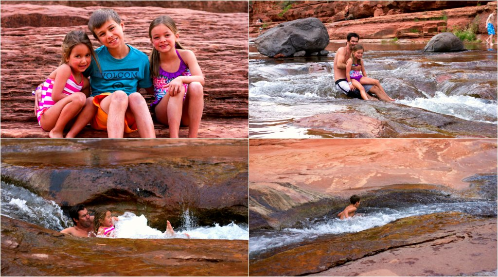 Slide Rock State Park with kids