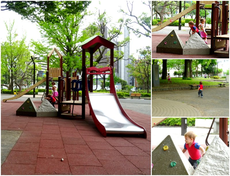 The nearby playground