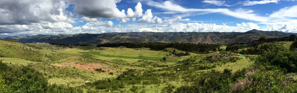 Views from Pucapucara ('The Red Fortress'), Cusco, Peru