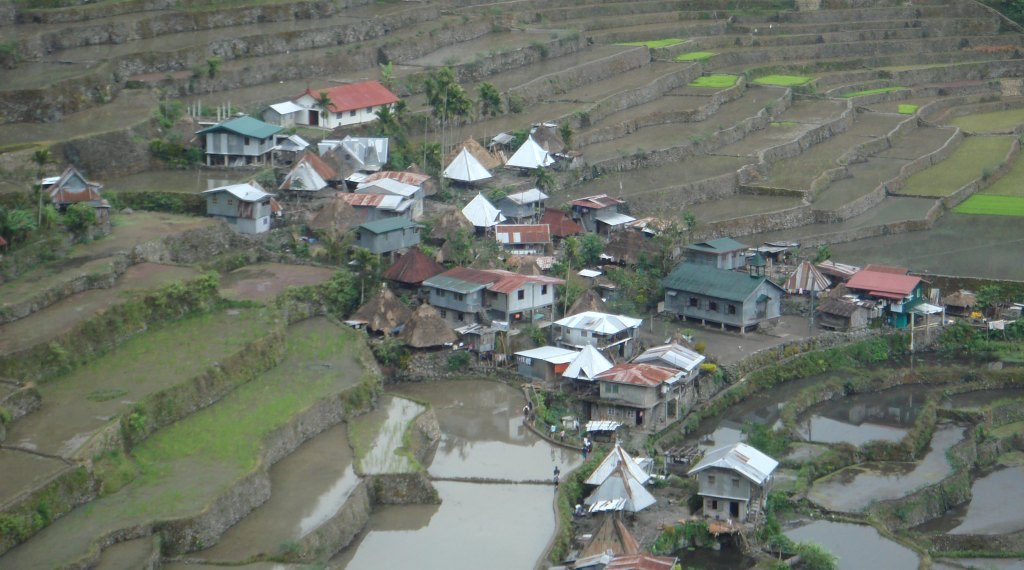 Settlement within the rice terraces of Batad.