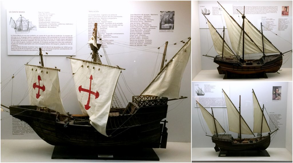 The boats of Christopher Columbus