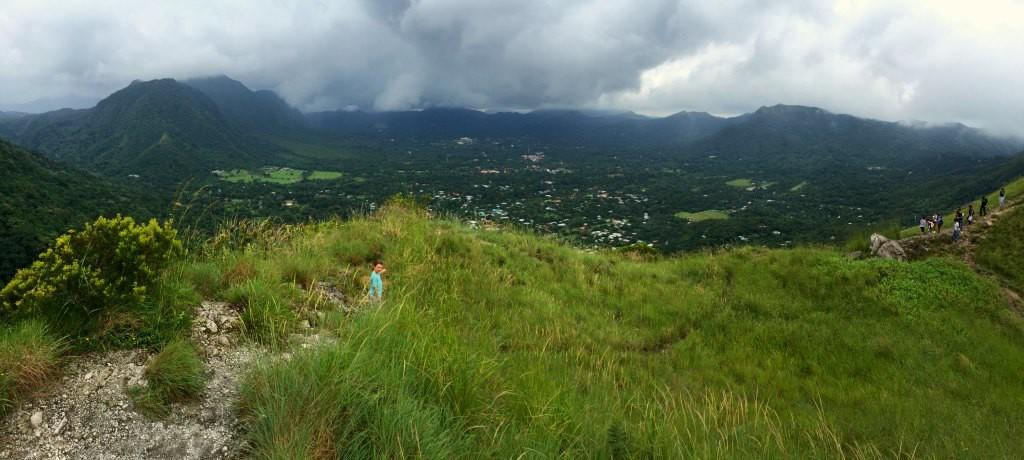 At the top of The Sleeping Indian, El Valle de Anton