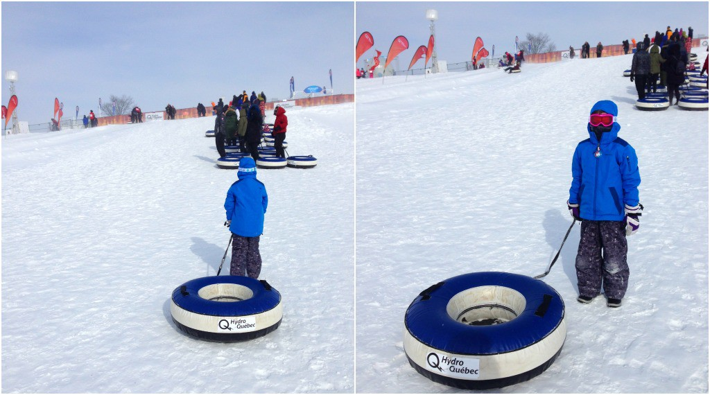 image of snow tubing at the Quebec Winter Carnival