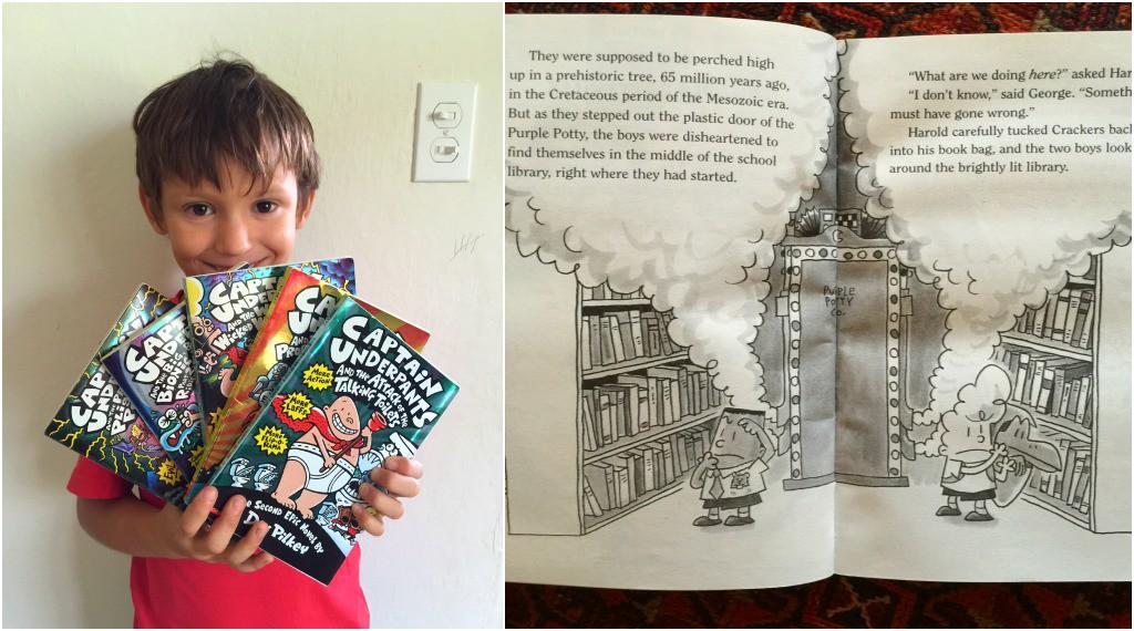 Best Children's Books for Christmas Captain Underpants by Dav Pilkey