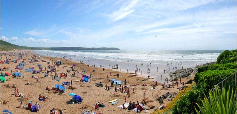 Activities in North Devon for kids: award-winning Woolacombe Beach