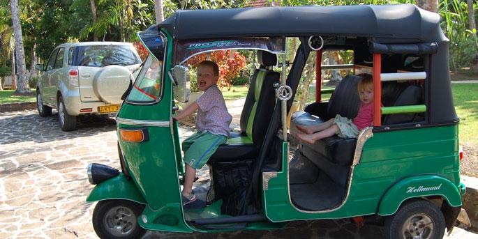 auto-rickshaw or tuk tuk, Sri lanka