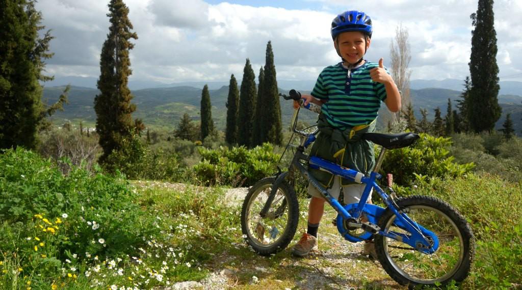 Mountain biking in Crete for kids