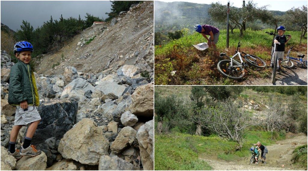 Mountain biking in Crete with kids