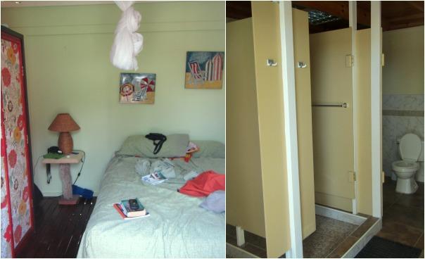 Cabanas (interior & communal bathroom)
