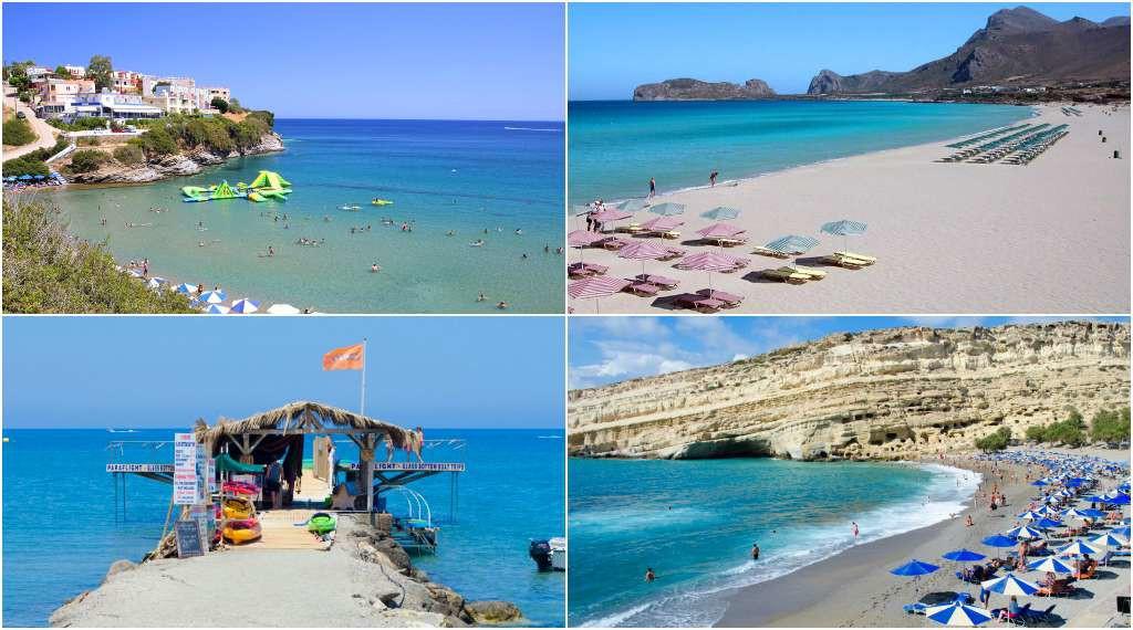 Family-friendly beaches in Crete, Greece