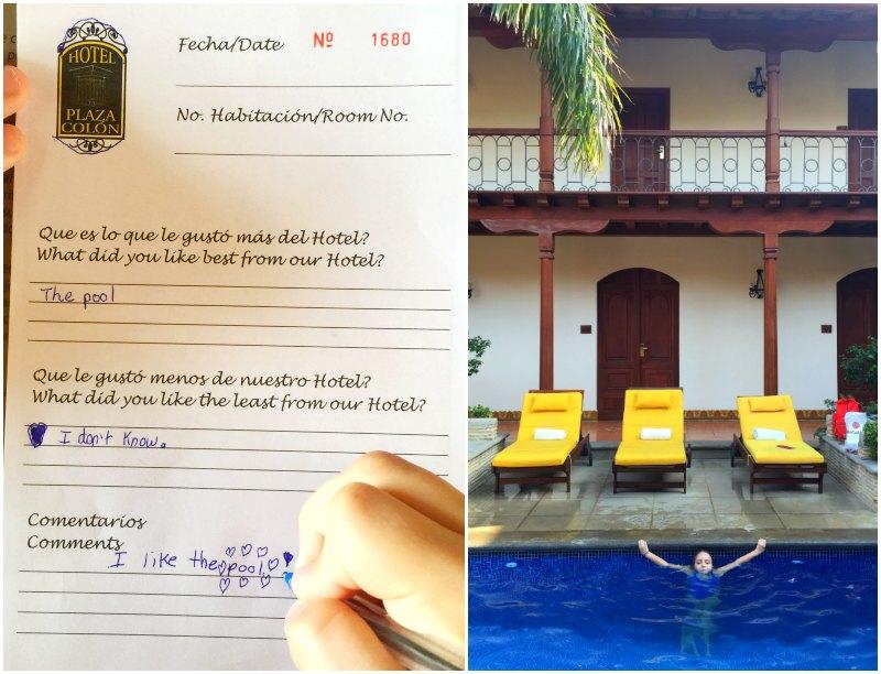 hotel plaza colon pool kids
