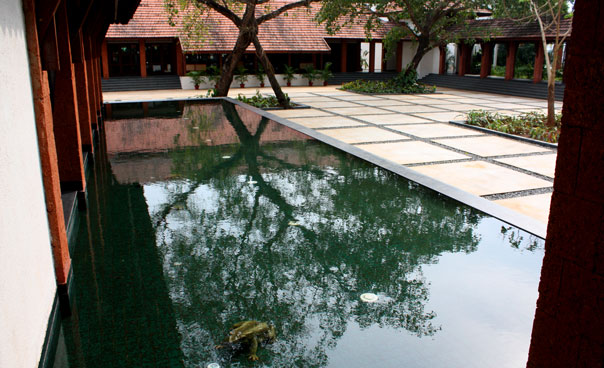 inner courtyard with water
