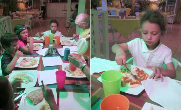 Kids dining at Casa Amarilla