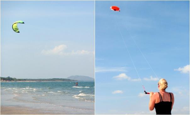 Take kite surfing lessons