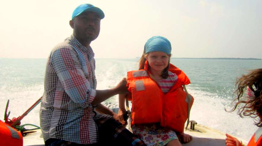 The speedboat from St Martin's to the mainland, Bangladesh