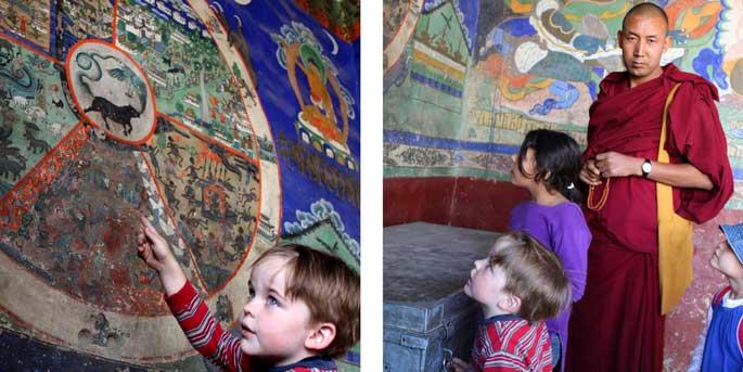 Thiksey Monastery, Leh