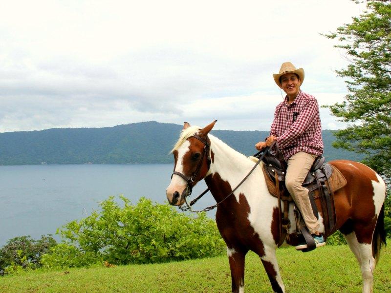 Granada with kids Nicaragua: riding in Granada