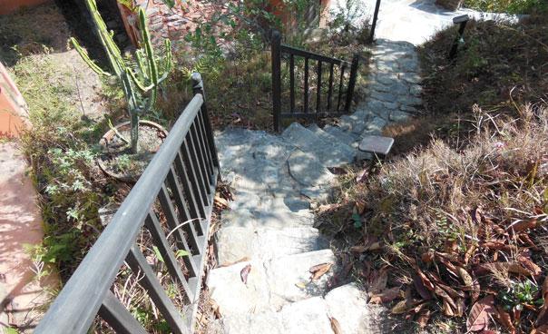 Steps around the resort