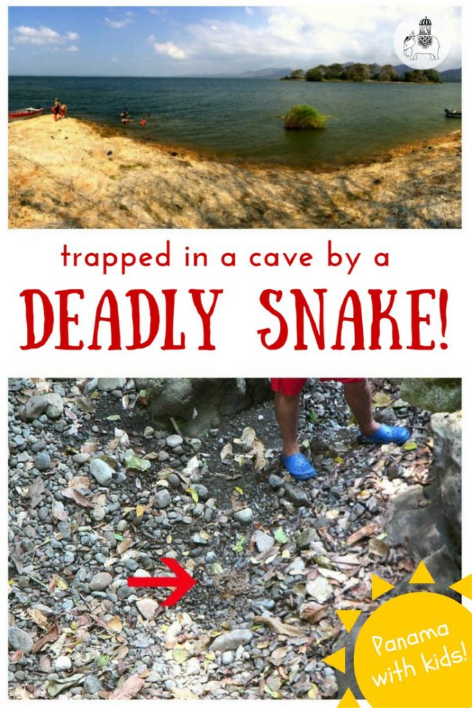 Panama with kids: Trapped in a cave by a deadly snake