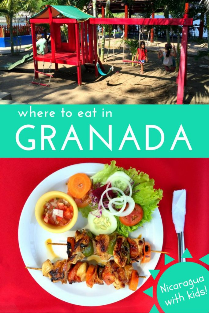 Where to eat in Granada, Nicaragua with kids. Family-friendly restaurants via @globetotting